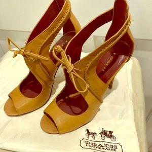 Coach Leather heels